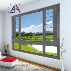 Fenêtre à battant en aluminium avec écran de voler en acier