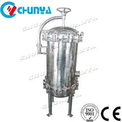 """中国のステンレス鋼SS304 316Lの精密液体ビールワインのミルク10 """" 30inch PP PTFEのマルチカートリッジフィルターハウジング"""