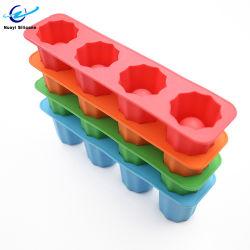 Schotglas 4 holtes Silicon Ice Cube Mold
