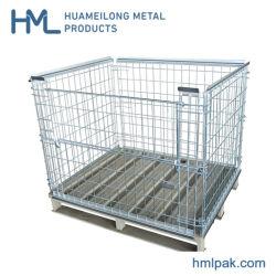 Charge moyenne de stockage de palettes métalliques en acier pliable cage pour le commerce de gros