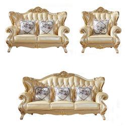 Meubles de salle de séjour avec l'option couleur bois Antique canapé en cuir