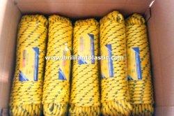 ナイロン麻ひものダイヤモンドの編みこみのロープ、PPの固体編みこみのプラスチック巻き枠のパッキングプラスチックロープPPロープ