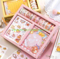 Reizender Entwurf anhaftendes Washi Band-Geschenk-Kasten-Paket