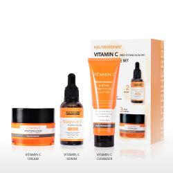O OEM cosméticos hidratantes de branqueamento de vitamina C para Limpeza Facial cuidado da pele rosto definida