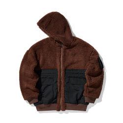 Logo personnalisé de l'hiver de vêtements de laine de cachemire coupe-vent de la chaleur de la rue unisexe Veste d'usure