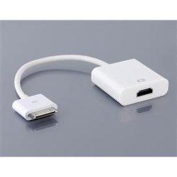 Apple iPad용 HDMI 어댑터에 연결 iPhone 4 iTouch 4(화이트)