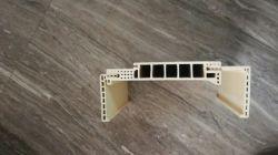 WPC ecológica compuesto de plástico madera materiales de construcción Perfil de la puerta