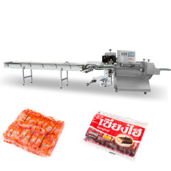 가족 팩 자동적인 수평한 베개 팩 Flowpack 1대의 기계에서 1/10년에 1 /6에 대하여 1/5에서 건빵 도넛 즉석 면 4