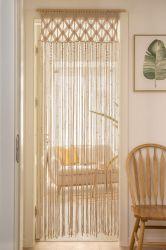 戸口の窓カーテンのHandwoven結婚式の背景幕のアーチの戸棚部屋ディバイダのBohoのマクラメのカーテン・ウォールのハングの装飾