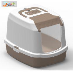 閉鎖キャットリターボックスペットクリーニングの処理の製品工場からの安いペット洗面所