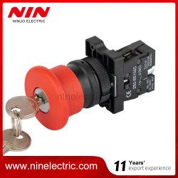 NIN Xb2 - Es142 플라스틱 레드 버섯과 키 푸시 비상 정지 버튼 스위치