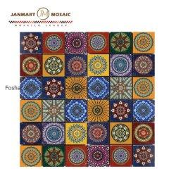 Mosaico de la plaza cubierta de mármol Mosaico de las fronteras para el cuarto de baño y cocina de pared Backsplash