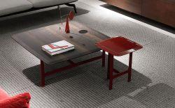 B&M de la Casa Moderna de acero inoxidable de la moda de madera simple juego de mesa de café El café junto a la mesa Talbe