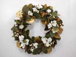 """باهر 13"""" ′ إكليلة زهرة الزهرة الزهرة اليدوية الزهور الوردية زهر من الجارلاند المصطنع لحفل زفاف على الجدار الأمامي ديكور منزلى"""