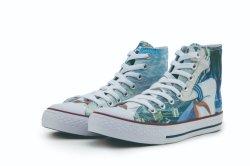 По разработке нестандартного верхней части Vulcanized обувь мода Canvas обувь Sneaker Pimps для Мужчин Женщин
