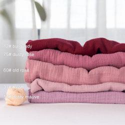 Commerce de gros de la mousseline organiques doubles couches de vêtements pour bébé tissu de gaze