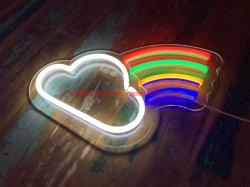 2D poderia e Rainbow Sinal LED acrílico luz néon Motif Luz noturna de desligar a luz decorativa de parede
