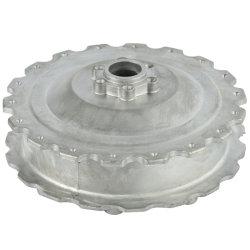 Pièces en alliage aluminium du couvercle du moteur de moyeu