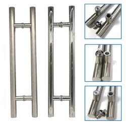 Doppia maniglia di portello laterale commerciale di vetro di scivolamento dell'acciaio inossidabile