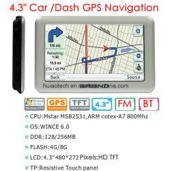 OEM 4.3inch caliente de la navegación GPS Pnd Portablet GPS Navigator con ARM Cortex A7, WINCE 6.0; sistema de GPS Bluetooth, cámara de estacionamiento trasero, 8GB de memoria Flash para el mapa europeo