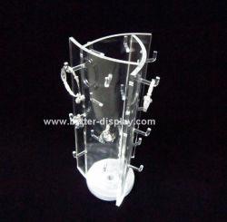 Acrylique d'alimentation de l'usine de comptoir Présentoir de bijoux en rotation