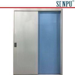 Déplacer la porte des toilettes de l'acier (A)