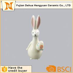Figuras de animais de porcelana decoração Coelho da Páscoa de cerâmica