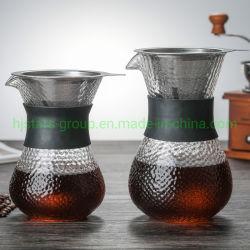 Creatore di caffè di vetro fatto a mano di nuovo disegno
