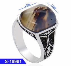 Producto de gama alta bisutería 925 Joyería de Plata anillos de dedo islámica para hombres