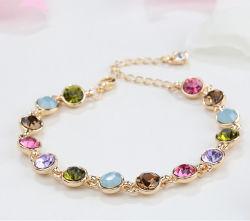 braccialetto di cristallo placcato caldo del braccialetto del cuore dei Rhinestones dell'oro bianco di vendita 18K