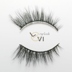 La más alta calidad estable Curl Faux visones falsos ojos pestañas individuales (M6D-007).