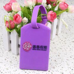ODM OEM personalizados logotipo personalizado de borracha de PVC em relevo a etiqueta de bagagem por saco