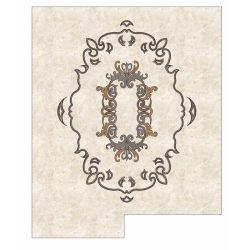 Medalhão de mármore de flores CNC para o átrio do Hotel