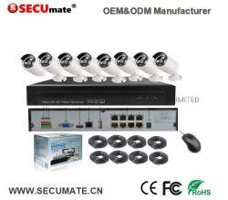 8X 5MP Poe 옥외 IP 사진기를 가진 8CH CCTV 주택 안전 시스템