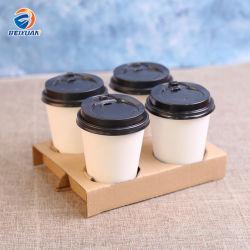 4 Cup-Wegwerfpackpapier-Kaffeetasse-Halter