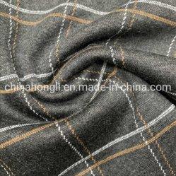 Verrouillage de polyester à 52%43%5%spandex Grille de rayonne de vérifier l'Étirement de colorant tricot de fils