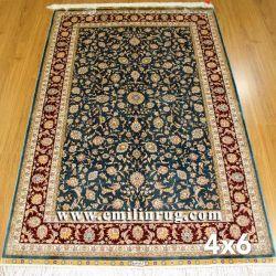 Mano a mano atada TURCO persa chino barato Diseño de alfombras de seda artificial