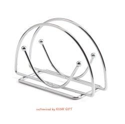 Forme personnalisée du fil en acier de couleur argent métal Détenteur Détenteur de tissu Serviette Serviette Rack distributeur