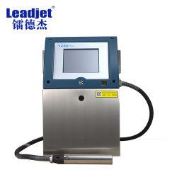 Vaso Leadjet Data de termo de impressão a jato de tinta Impressora em plástico/alumínio