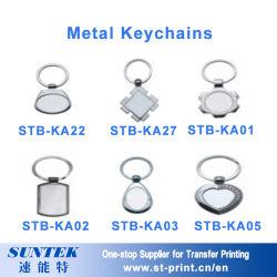Kundenspezifische unbelegte Metalgroßhandelssublimation-unbelegtes Schlüsselketten-förderndes Geschenk