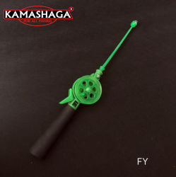 Kamasha 34cm Mini Kunststoff fliegen Rolle und Rod fliegen Rolle Für Kinder Fly Reel Combo Angeln Tackle Fly Rod