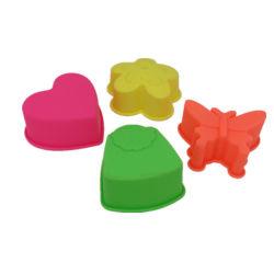 4 formes différentes ensemble moule à cake en silicone pour Décorer un gâteau