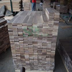 De madera maciza de nogal americano para suelos inconclusa para muebles