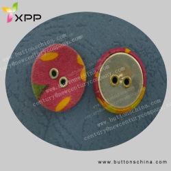 Botão de malha de metal com 2 Olhal de Latão