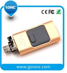 Оптовая торговля 3 в 1 OTG флэш-накопитель USB 16 ГБ для компьютера и мобильного телефона