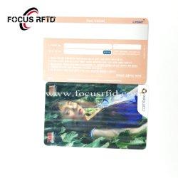 Commerce de gros 3D personnalisé bande magnétique de la carte cadeau carte VIP en plastique