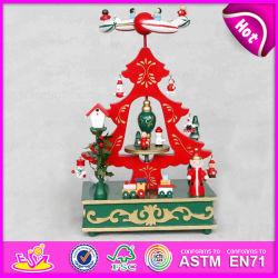 2015多彩なWooden Music Box Mechanism、Promotional Gift、Wholesale Cheap Christmas Tree Music Box W07b012bのためのWooden Music Toy