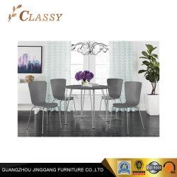 Les pattes métalliques arrondies Table de salle à manger moderne en trois couleurs