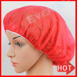Haarnetz des PP/PE/Shower/Mob/Mopp/Round/Bouffant/Nurse Klipp-/Crimped/Pleated/Strip, Chef Doctor/Medical/Surgical/Surgeon/Round/Non Woven/Non-Woven Disposable Cap