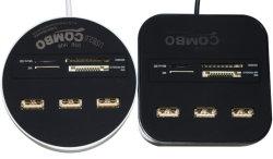 Tutti in un micro combinato SD/MMC/M2/Msfm Us1 del mozzo delle porte del USB 2.0 del lettore 3 della Multi-Scheda